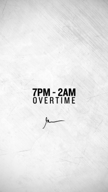 7pm - 2am overtime