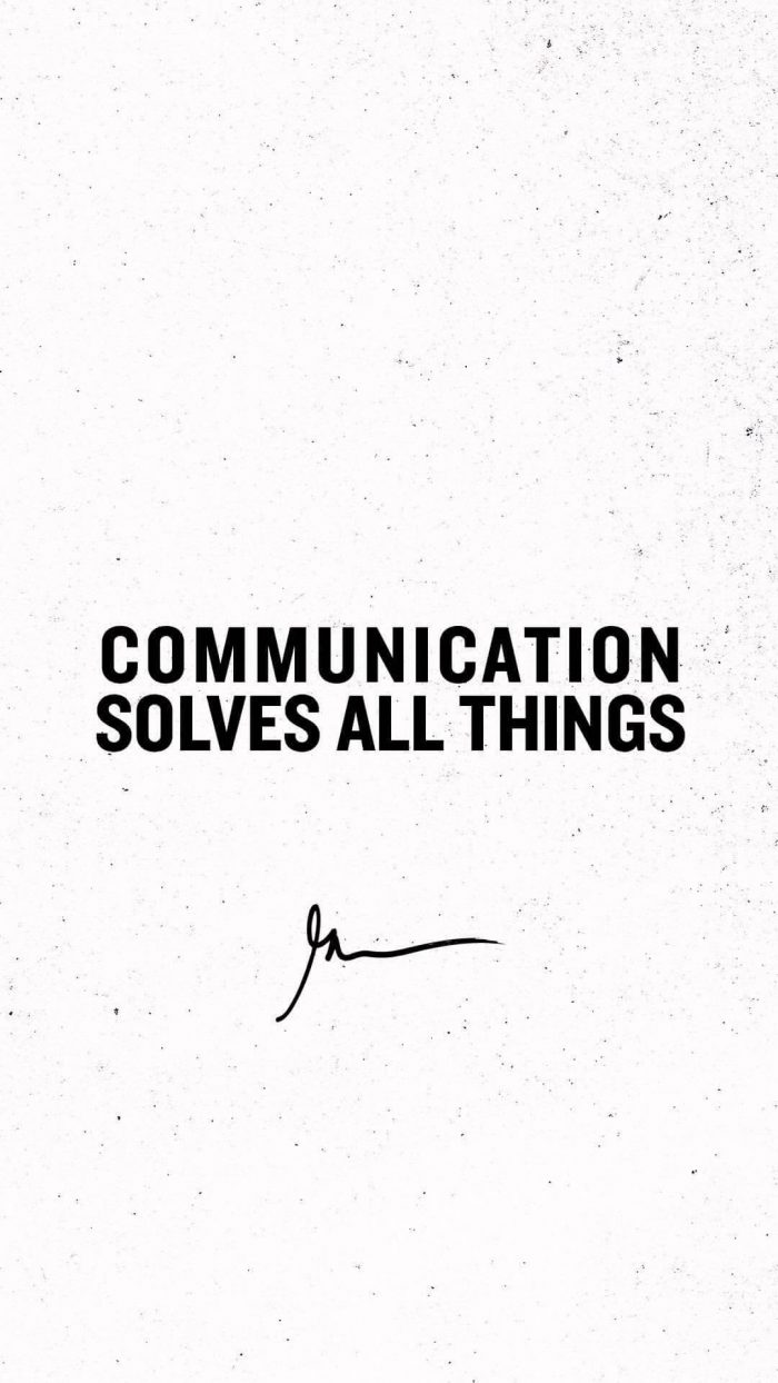 Communication solves all things