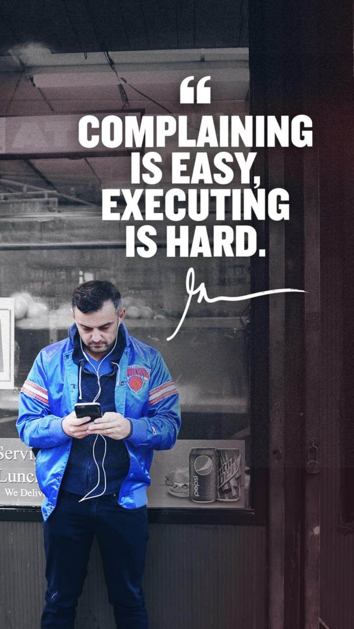Complaining is easy executing is hard