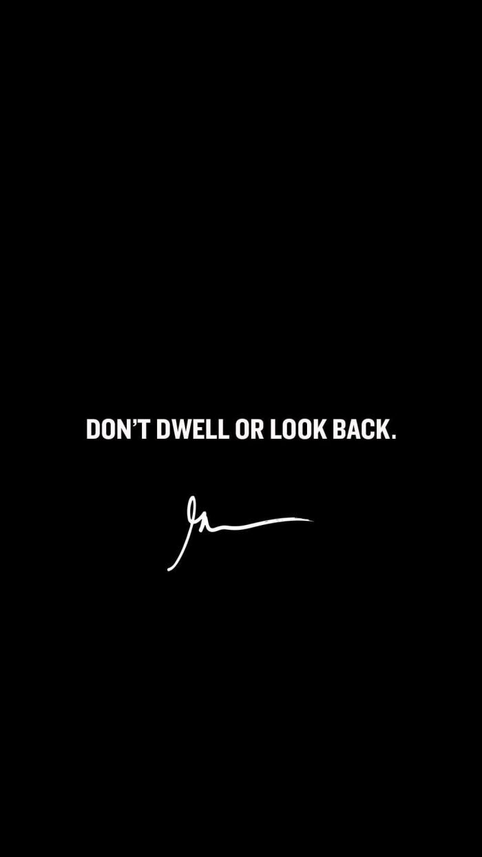 Don't dwell or lock back