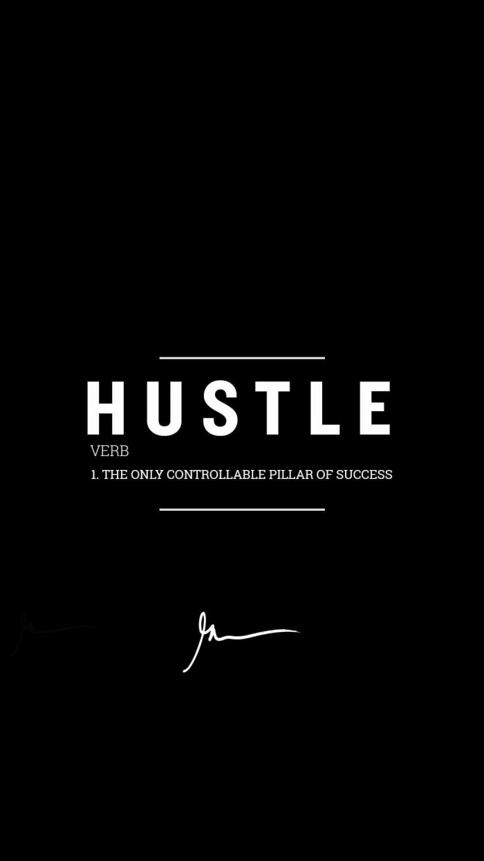 Hustle the only controllable pillar of success