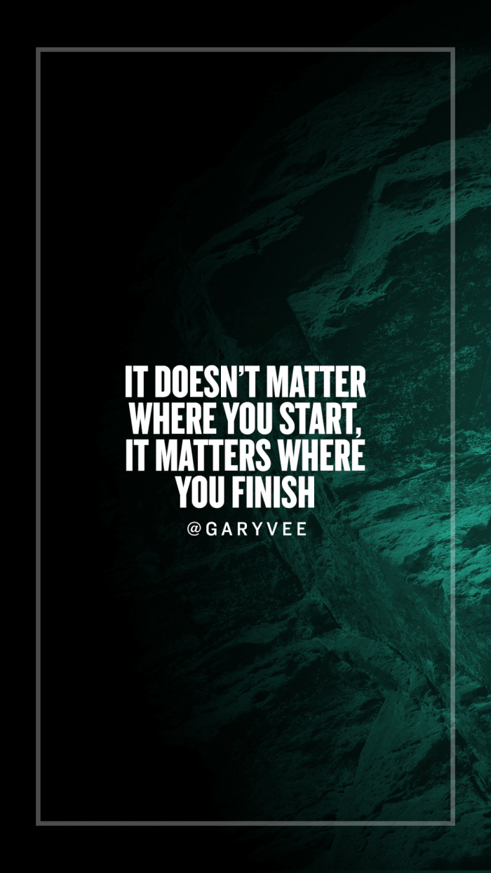 It Doesnt Matter Where You Start It Matters Where You