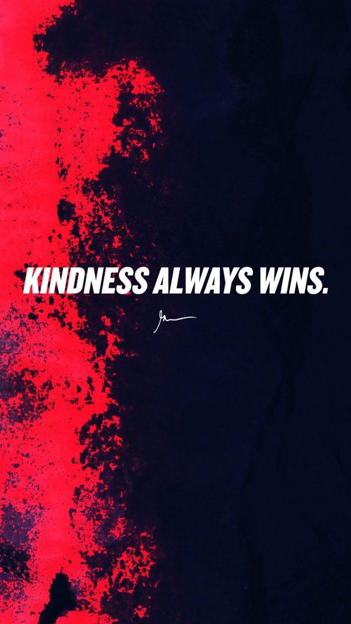 Kidness always wins