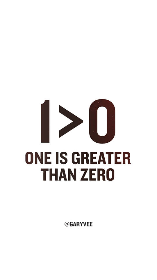One Is Greater Than Zero