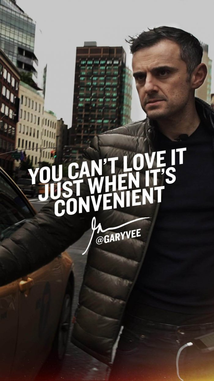 You can't love it just when it's convenient