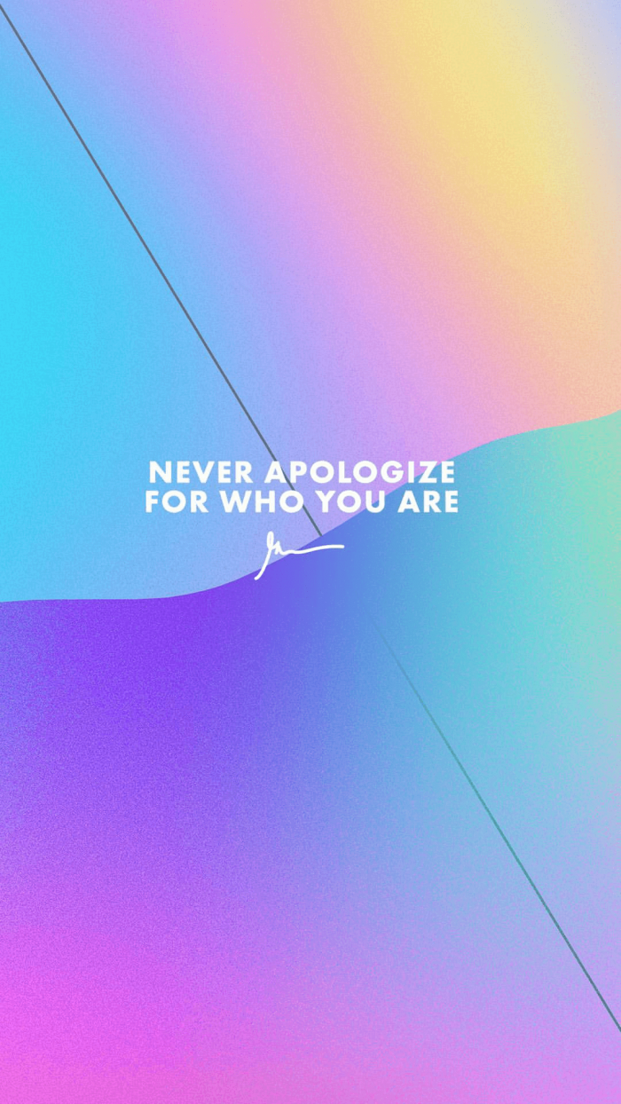 Never apologize for who you are gary vaynerchuk wallpaper