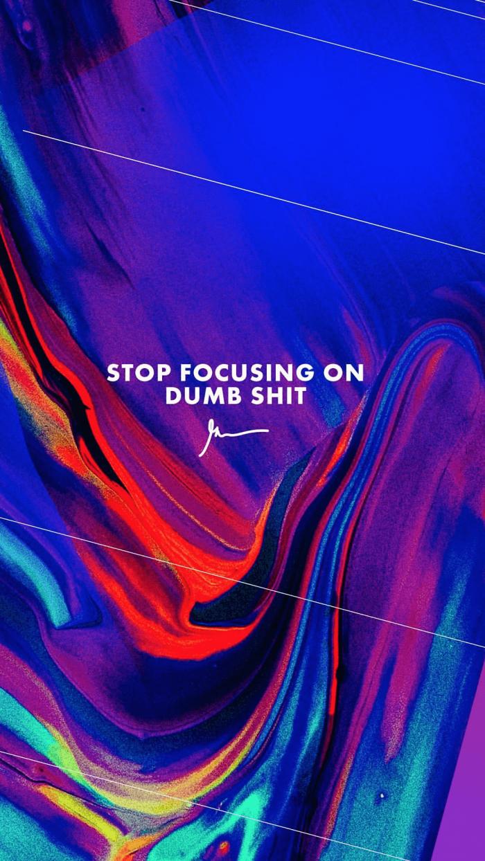 Stop Focusing On Dumb Shit gary vaynerchuk wallpaper