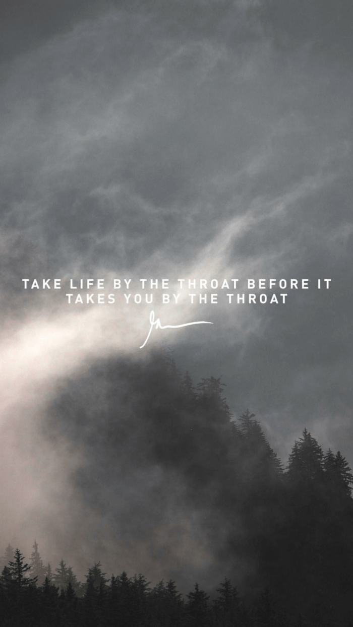Take Life By The Throat Before It Takes You By The Throat garyveewallapapers.com