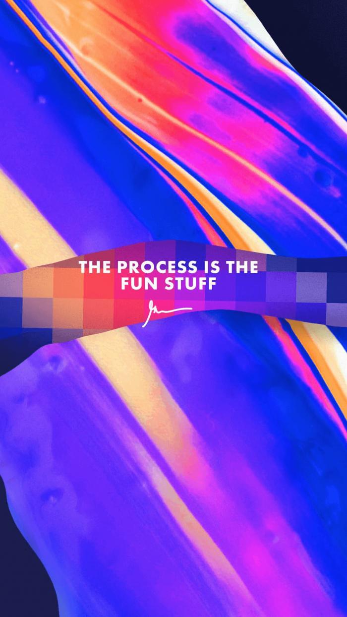The Process is The Fun Stuff gary vaynerchuk wallpaper