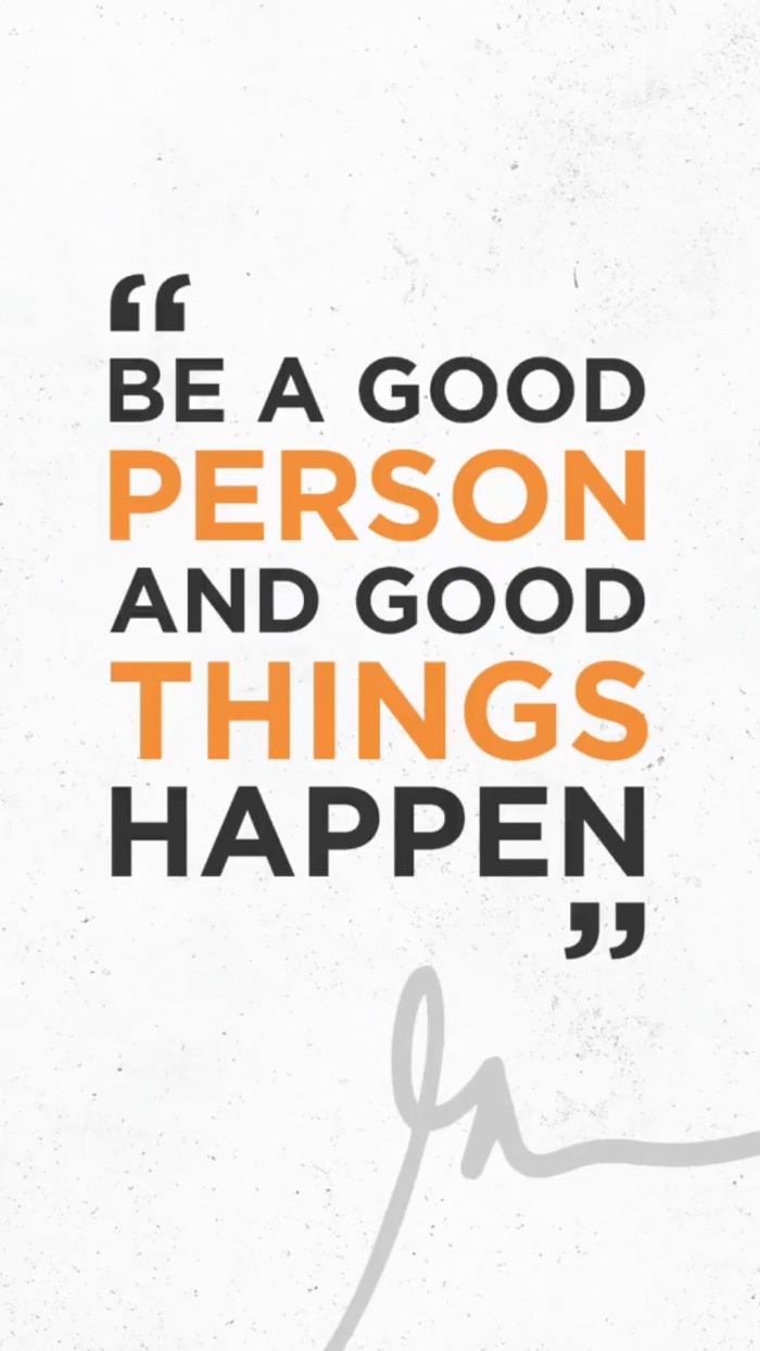 Be A Good Person And Good Things Happen GaryVeeWallpapers.com